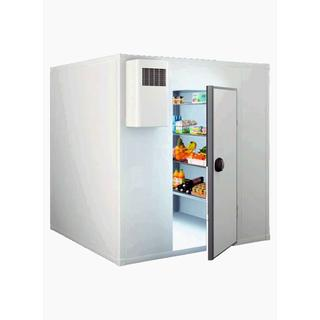 Refrigerated Storage Cabinet 6cm Flat Panel with Floor - Dimensions: 95x95x215 cm